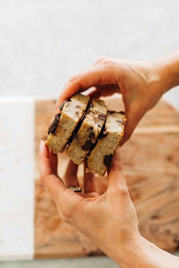 banana bread bars6 683x1024 - Chocolate Chunk Banana Bread Bars (Paleo & Gluten-Free)