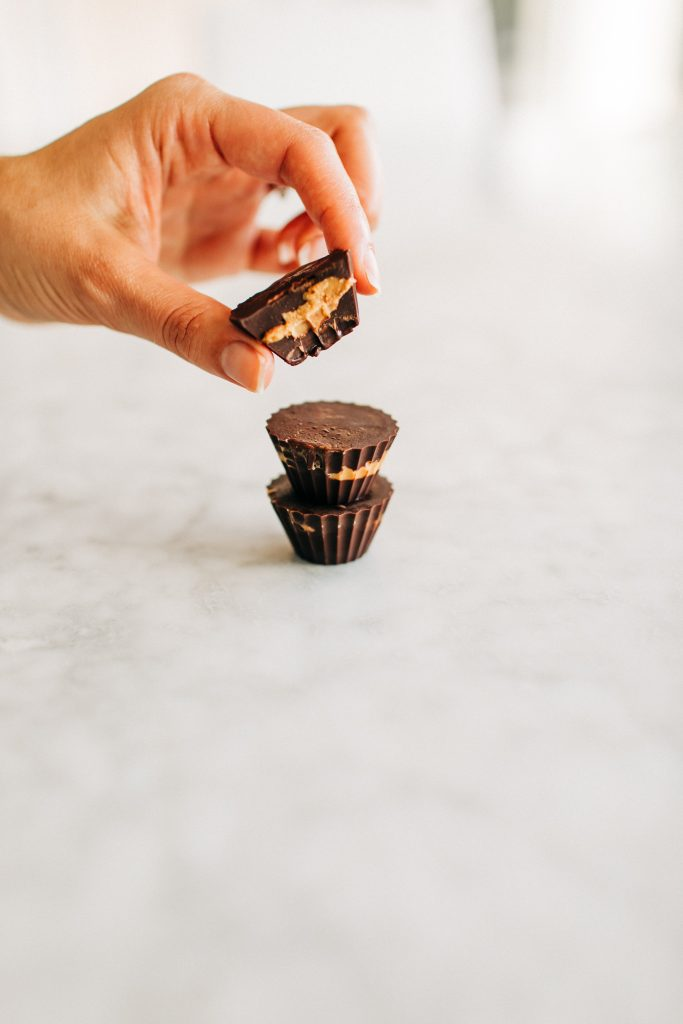 pb cups4 683x1024 - Homemade Healthy Peanut Butter Cups! (Dairy-Free & Gluten-Free)