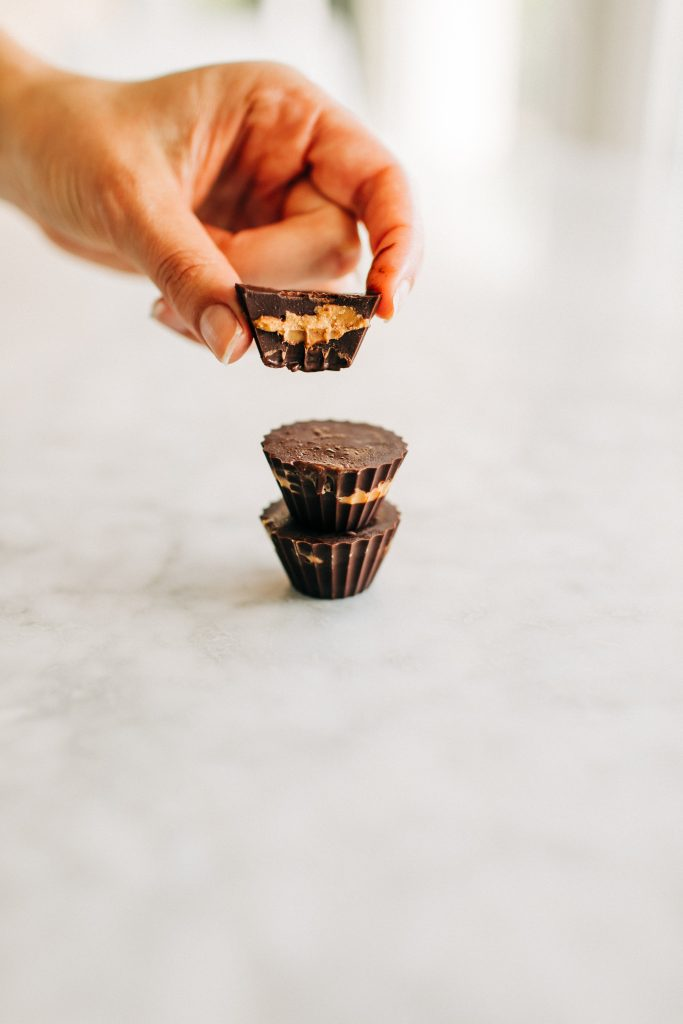 pb cups5 683x1024 - Homemade Healthy Peanut Butter Cups! (Dairy-Free & Gluten-Free)
