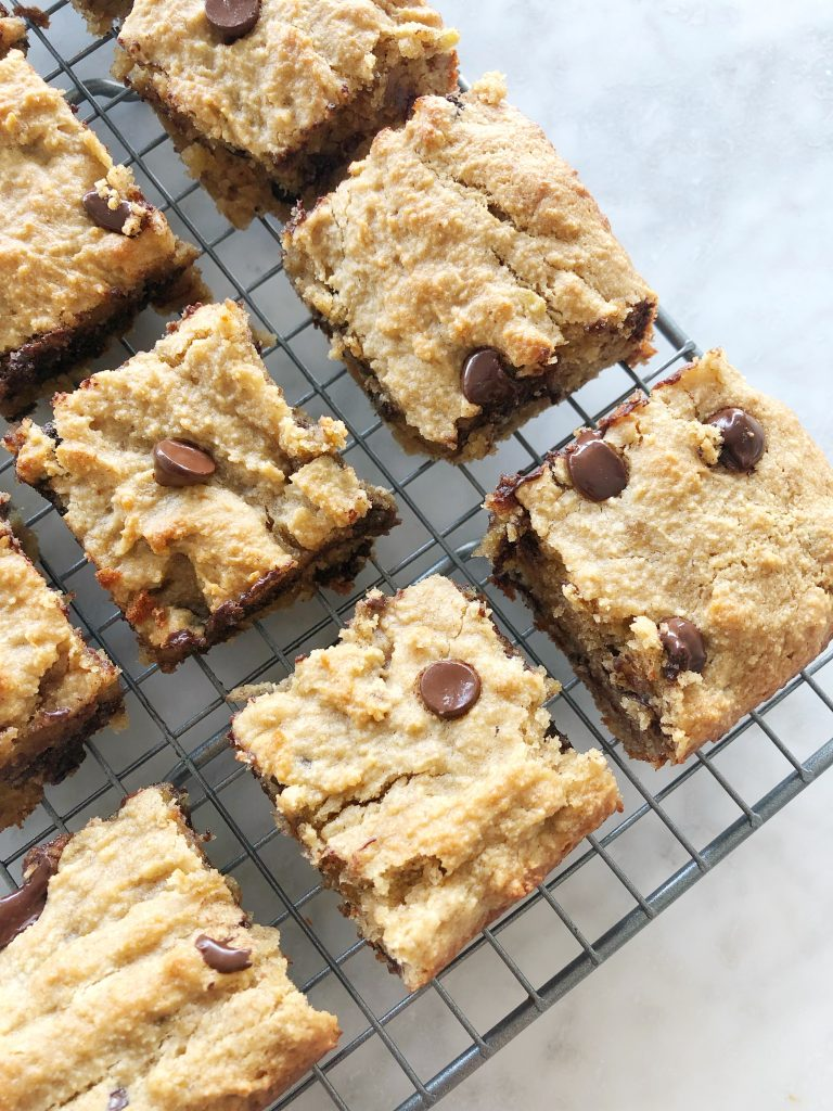 choc chip pb ban5 768x1024 - Chocolate Chip Peanut Butter Banana Bread Bars (Grain-Free, Gluten-Free, Dairy-Free)