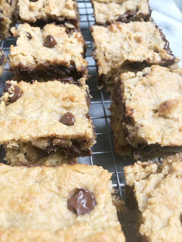 choc chip pb ban8 768x1024 - Chocolate Chip Peanut Butter Banana Bread Bars (Grain-Free, Gluten-Free, Dairy-Free)
