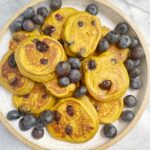 sweet potato blueberry pancakes 150x150 - Mini Sweet Potato Blueberry Pancakes (Gluten-Free)