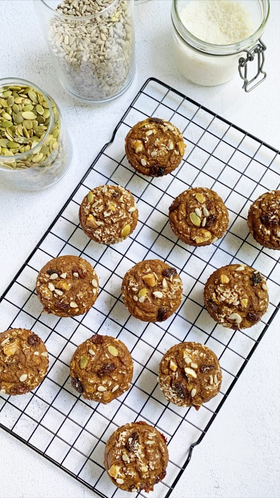 Morning Glory Muffins 1 576x1024 - Paleo Morning Glory Muffins (Gluten-Free & Grain-Free)