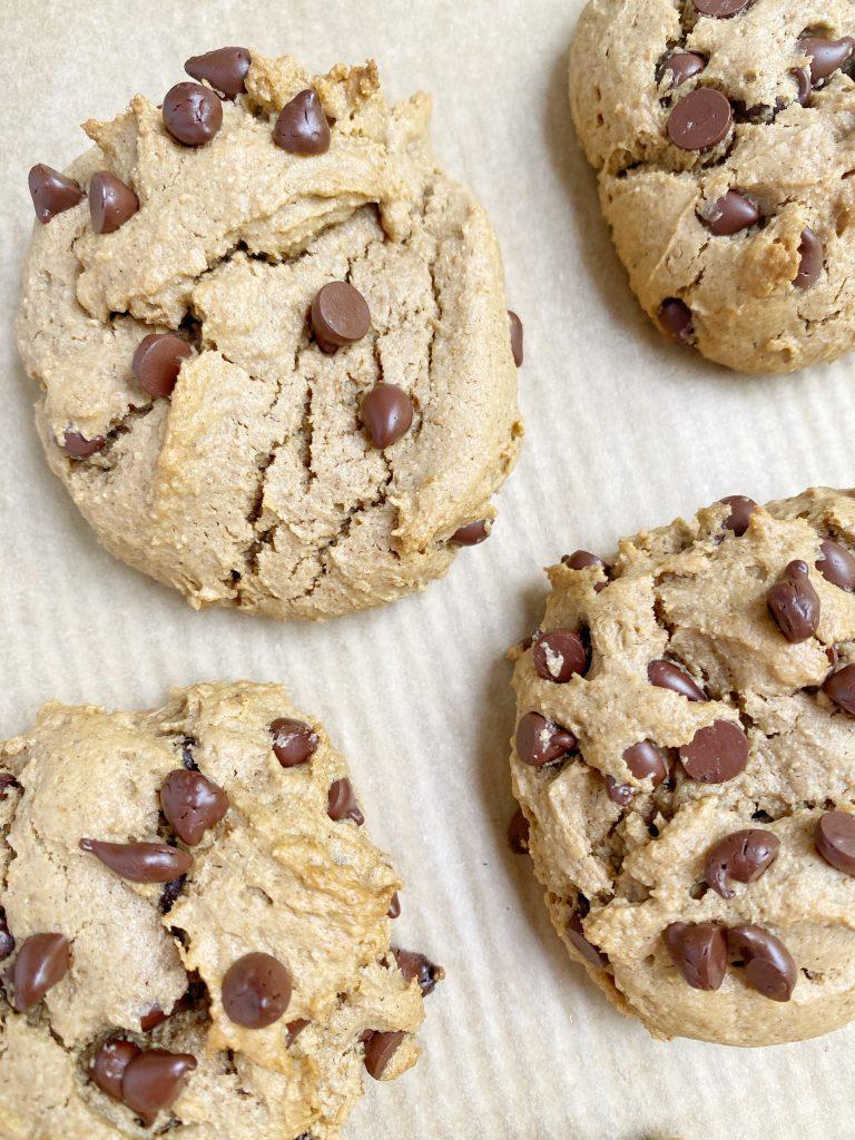 vegan gf choc chip cookie4 768x1024 - Vegan + Gluten-Free Chocolate Chip Cookies