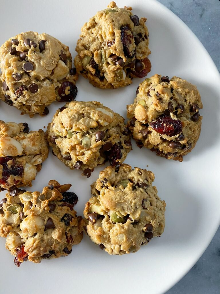 trail mix cookies 4 768x1024 - Gluten-Free Trail Mix Breakfast Cookies!!