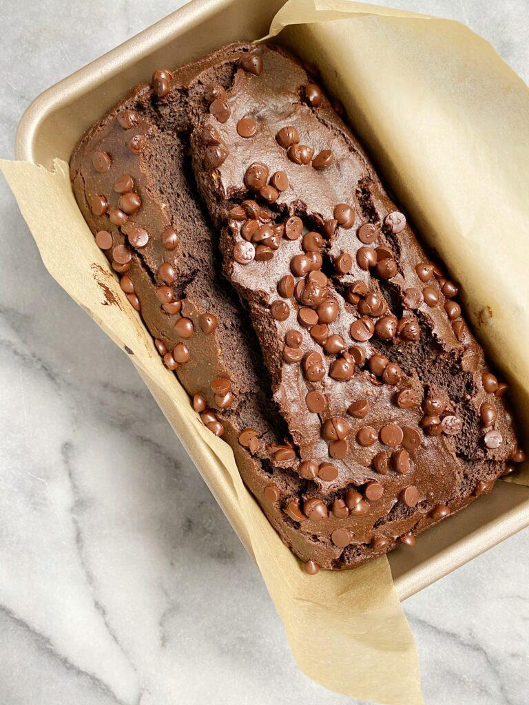 Double Chocolate Chip Banana Bread2 768x1024 - Double Chocolate Chip Banana Bread (Vegan & Gluten-Free)