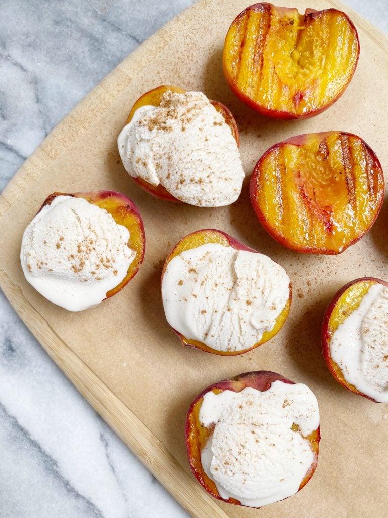 Post 2 Image 2 768x1024 - A quintessential summer dessert: grilled peaches with vanilla bean ice cream