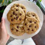 banana chocolate chip cookies 150x150 - Vegan Banana Bread Chocolate Chip Cookies (GF)