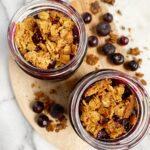 mini blueberry crisp2 150x150 - Healthy Mini Blueberry Crisp Jars (Vegan & GF)