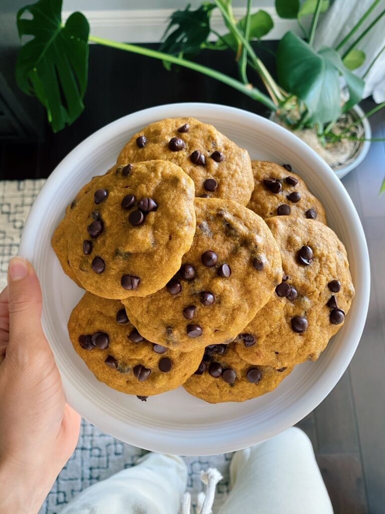 pumpkin cookies 768x1024 - Chocolate Chip Pumpkin Cookies