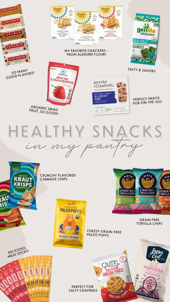 Healthier packaged snacks