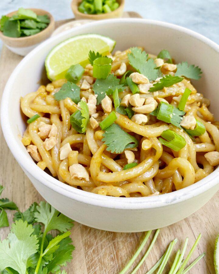 Vegan Spicy Peanut Butter Noodles