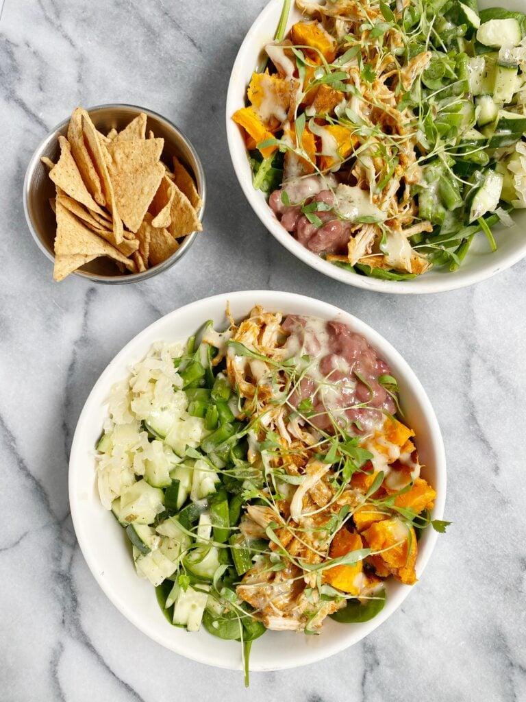 bbq chicken salad 768x1024 - Healthy Slow Cooker BBQ Chicken Salad (dairy-free & gluten-free)
