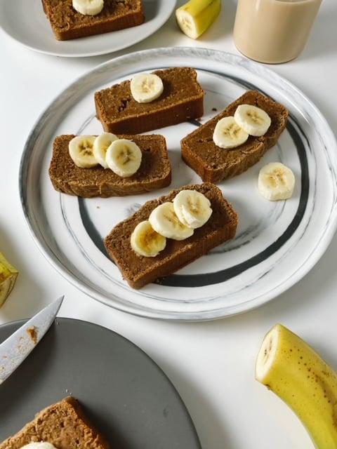 gingerbread banana bread2 - Vegan Gingerbread Banana Bread