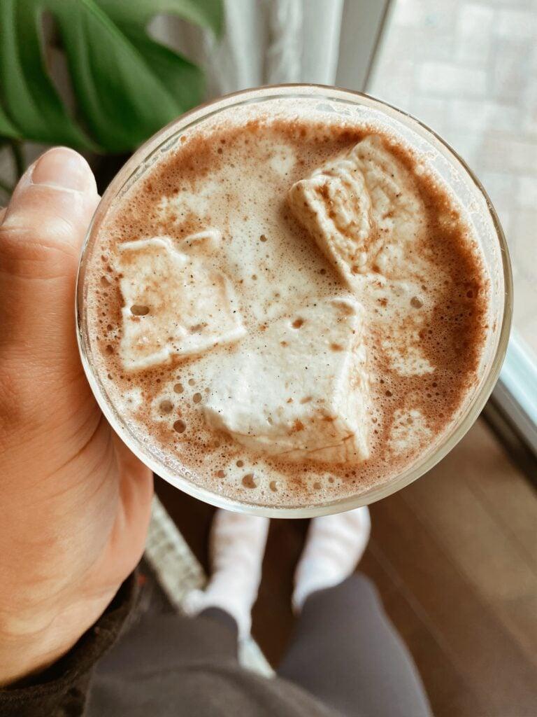 healthy hot chocolate 768x1024 - Vegan 'Healthy-ish' Hot Chocolate