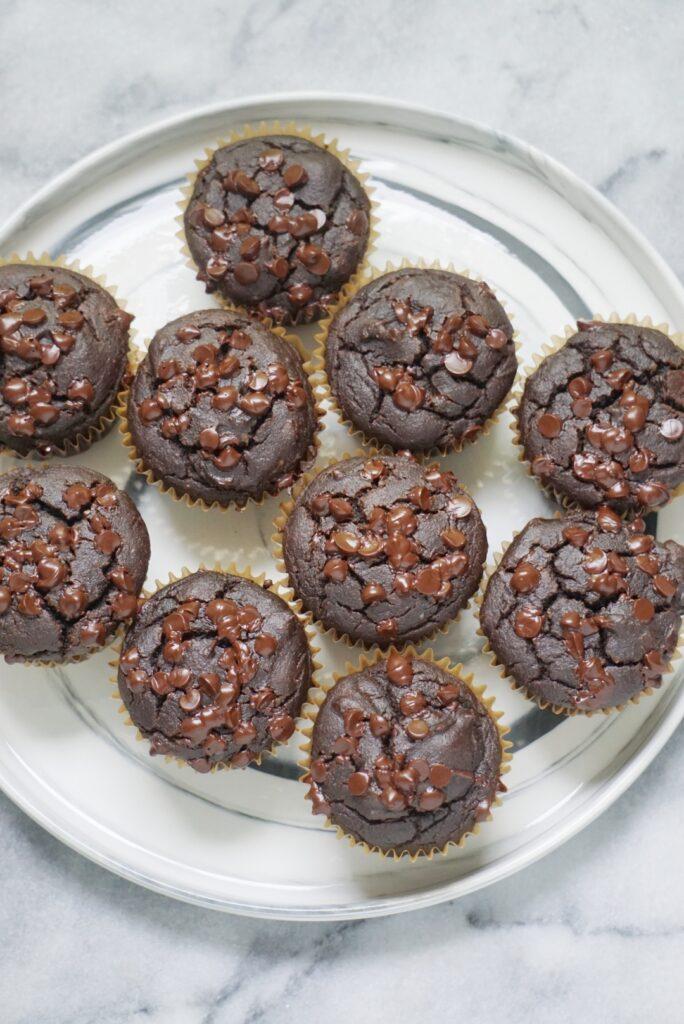 chocolate spinach muffins 684x1024 - Blender Chocolate Spinach Muffins (GF & DF)