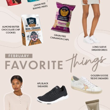 graphic of things I'm loving lately