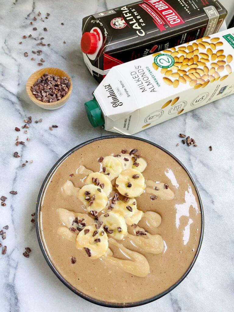 mocha cold brew smoothie bowl p 768x1024 - Mocha Cold Brew Smoothie Bowl