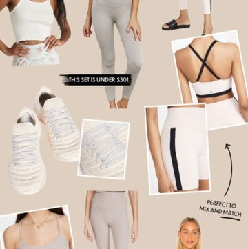 collage with activewear