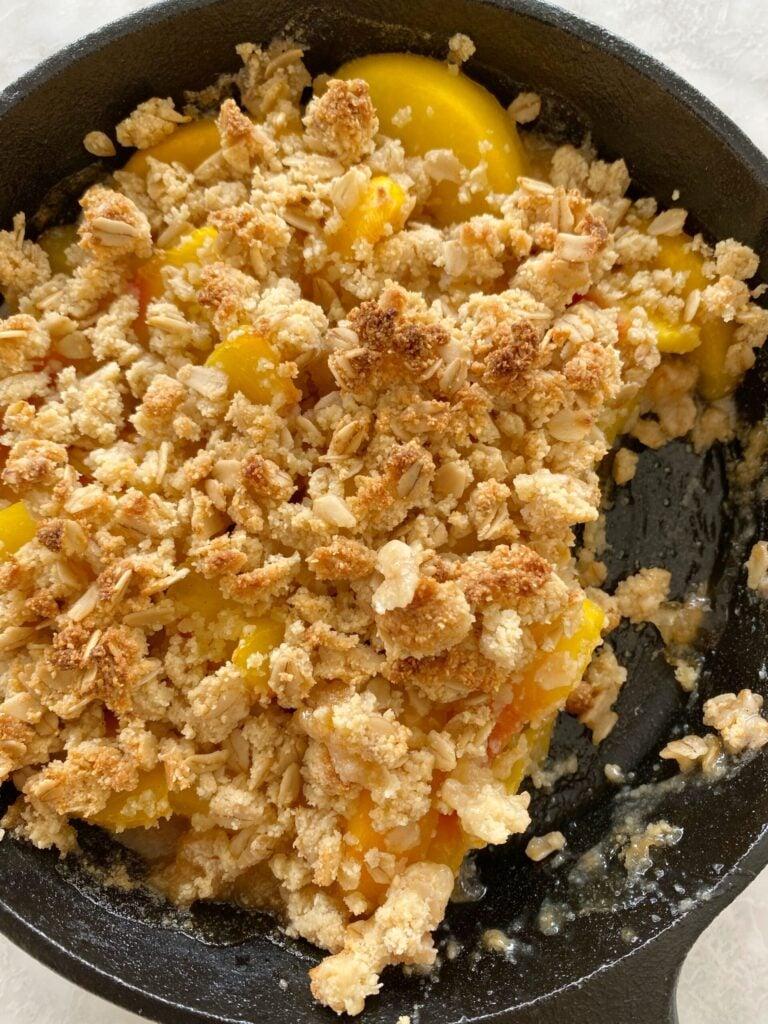 peach crisp scaled 1 768x1024 - The Best Gluten-Free Peach Crisp